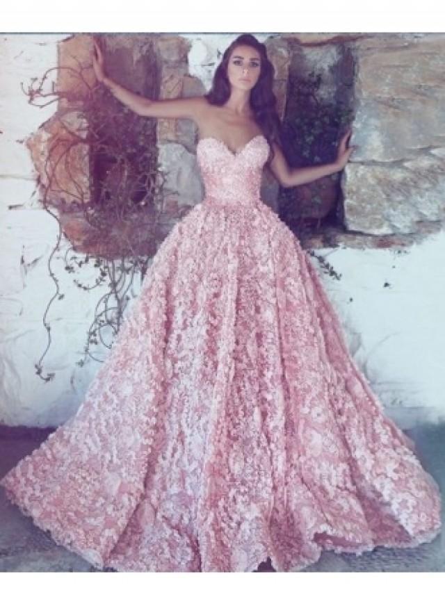 wedding photo - Luxus Abendkleider Lang Rosa