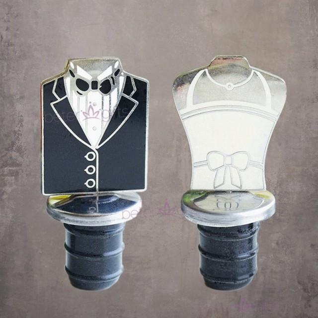 wedding photo - BeterWedding男男彩虹婚禮用品結婚獎品創意獎品回禮小物禮服紅酒瓶塞WJ036