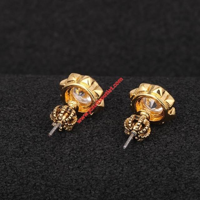 wedding photo - Juicy Couture Gold-Tone Zircon Sunflower Earrings