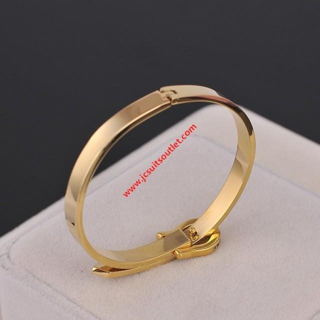 wedding photo - Juicy Couture Gold-Tone Glossy Diamond Logo Charm Bracelet