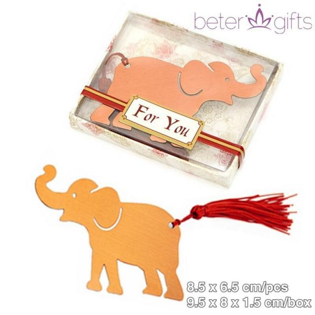 wedding photo - BeterWedding Graduation Gifts India Lucky Elephant Book Mark Favors WJ063