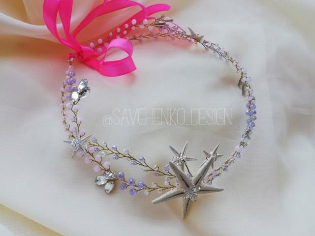 wedding photo - Purple Starfish Crown
