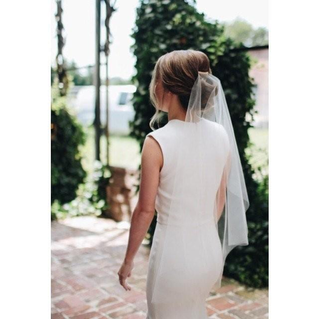 Wedding Veil Simplicity Short Cascade Waist Cut Edge, Bridal Veil CE36SW -Choose you color