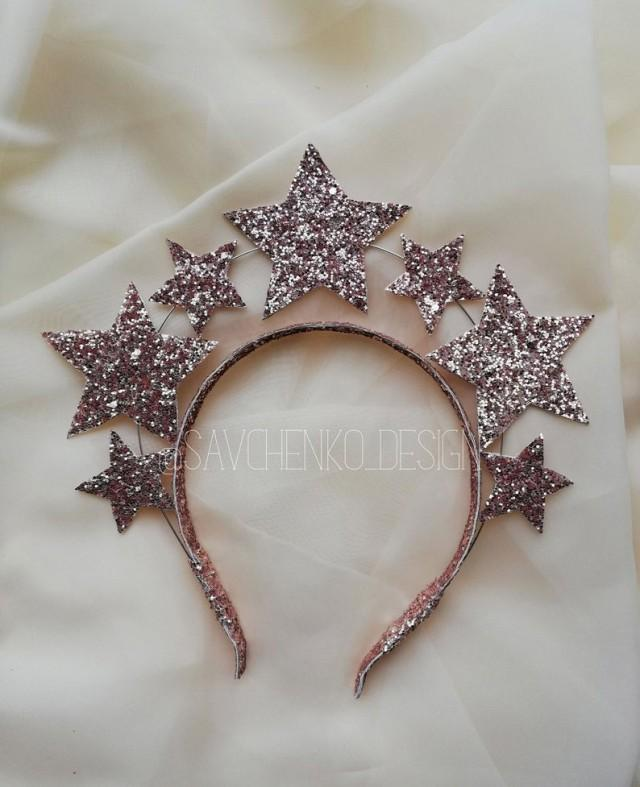 wedding photo - Rose Gold Stars Crown