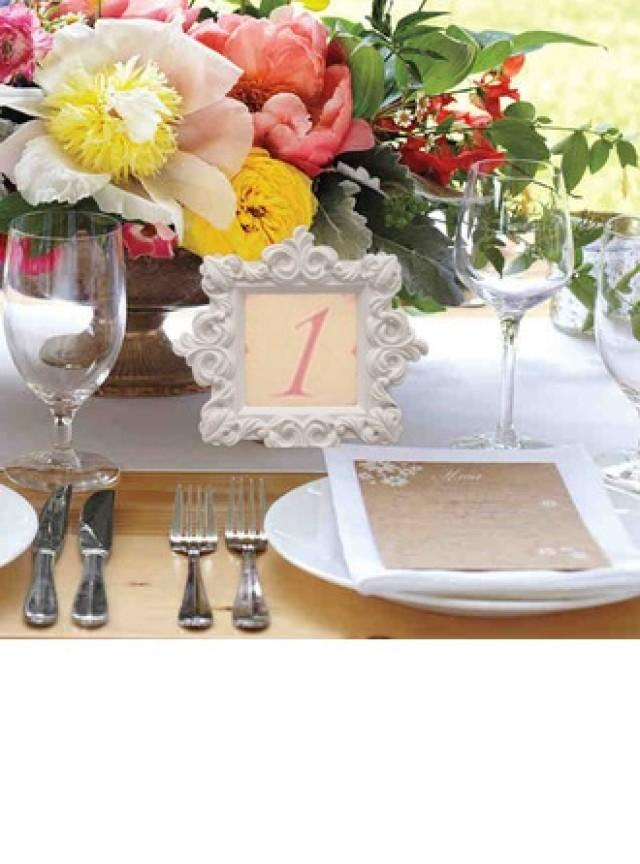 wedding photo - DIY Wedding Decoration Nice Resin White Table Number Frame