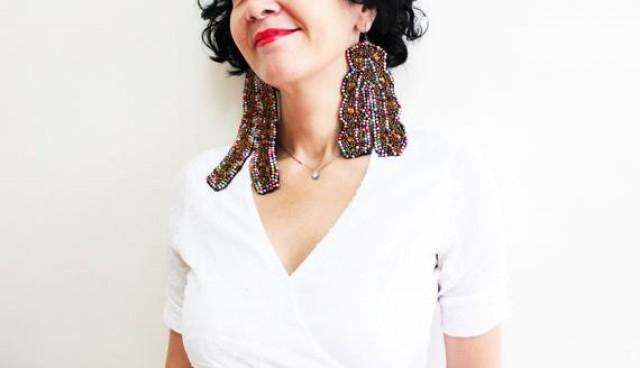 wedding photo - Embroidered Mismatched Oversized Earrings Big Asymmetric Embroidery Earrings Steampunk Jewelry Statement Tribal Ethnic Earing Gift for women