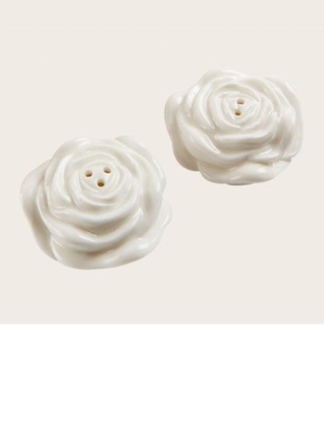 wedding photo - beterwedding Flower Design Ceramic Salt & Pepper Shakers Wedding Souvenirs