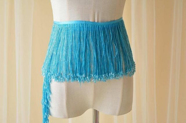 wedding photo - Dangling Fringe trim,Beaded Fringe Trim,Heavy Bead Trimming for Dance Costumes ,Party Dress Sold by 1 yard