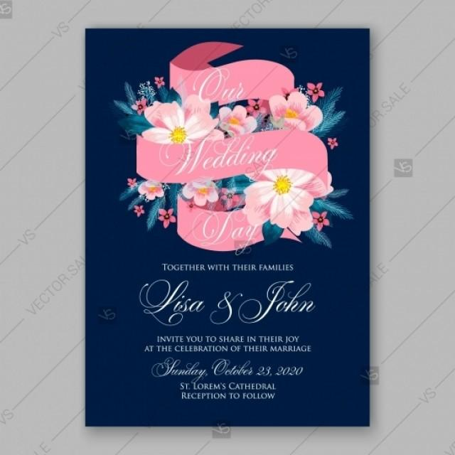 wedding photo - Pink Peony wedding invitation template design mothers day card