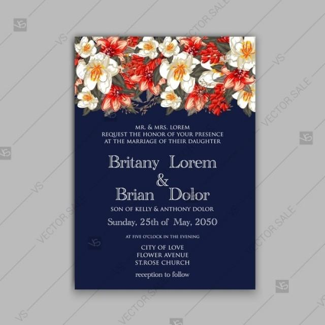 wedding photo - Romantic red peony flowers the bride's bouquet. Wedding invitation card template design