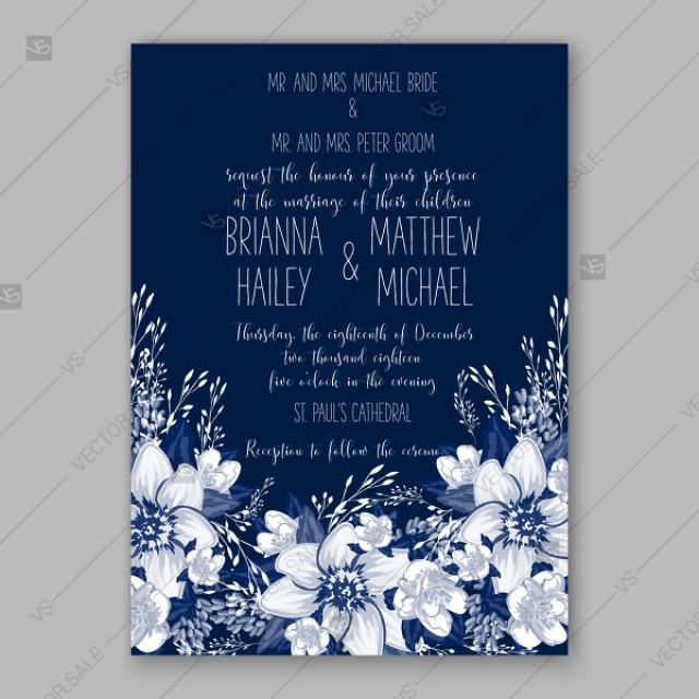 wedding photo - Winter poinsettia wedding bridal shower invitations fiesta