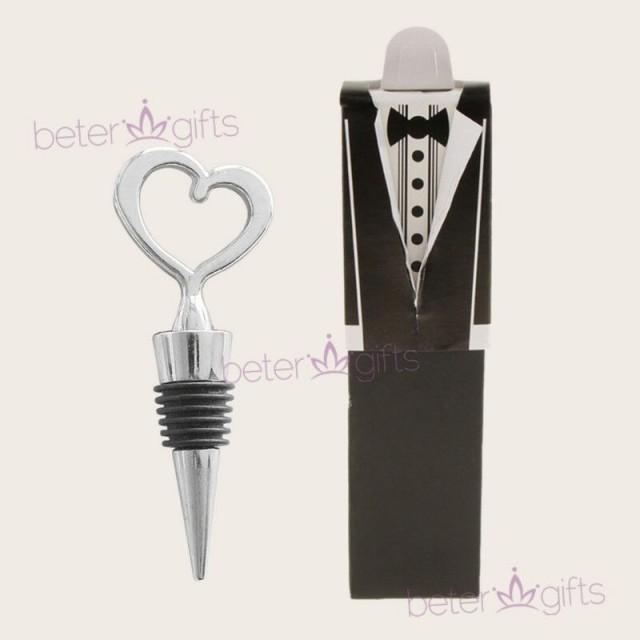 wedding photo - Beter Gifts®婚禮紅酒塞子結婚小物Skyblue答謝禮品春節小禮物伴手禮WJ001/A