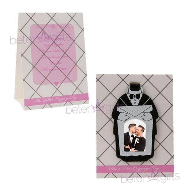 wedding photo - Beter Gifts®男士婚禮小物 #西服席位卡 #行李牌 DIY號碼桌卡夾餐盤佈置名片卡ZH018 #beterwedding #결혼선물