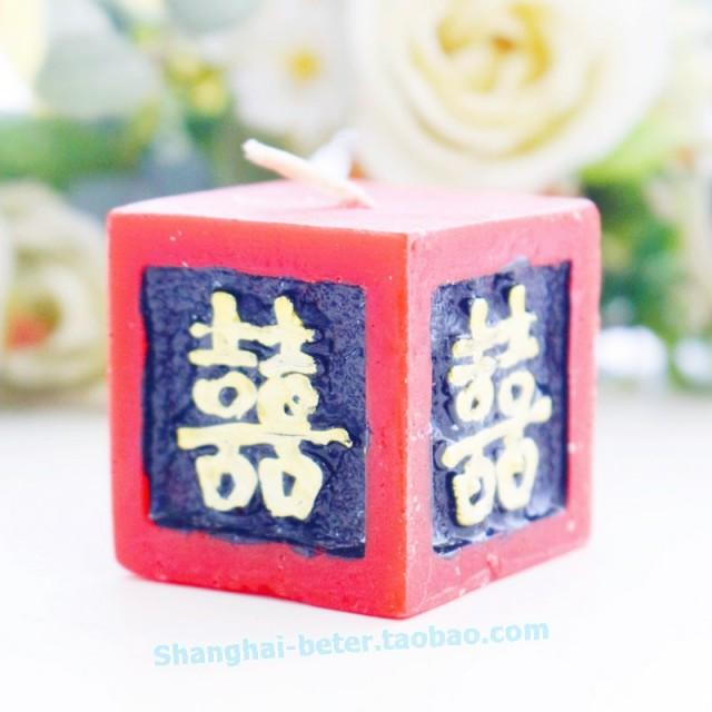 wedding photo - Beter Gifts®  Asian Souvenir tealight Candle favors red感謝季小蠟燭LZ027