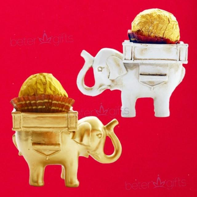 wedding photo - Beter Gifts®Indian Lucky Elephant Candle Holder Spring Wedding SZ040