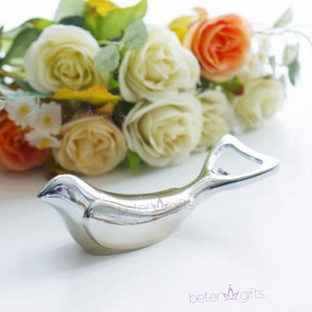 wedding photo - Love Bird Bottle Opener Wedding Favor #bridalshower #springwedding #beterwedding