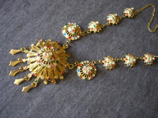 wedding photo - Vintage 1980s/90s Byzantine/Etruscan Revival Necklace