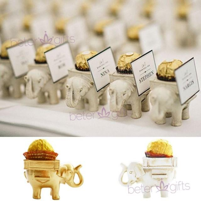 wedding photo - BeterWedding Lucky Elephant Chocolate Candy Holder Bridal Shower favor SZ040
