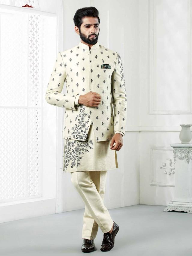 Silk Jodhpuri Suit for Mens Indowestern Suit for Reception jodhpuri for men,mens wedding dress,wedding dresses for men,wedding suit for men