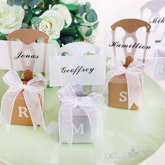 wedding photo - 金色糖果盒席位卡夾 #ThankYou 座位表糖果盒姓名牌TH002 #beterwedding