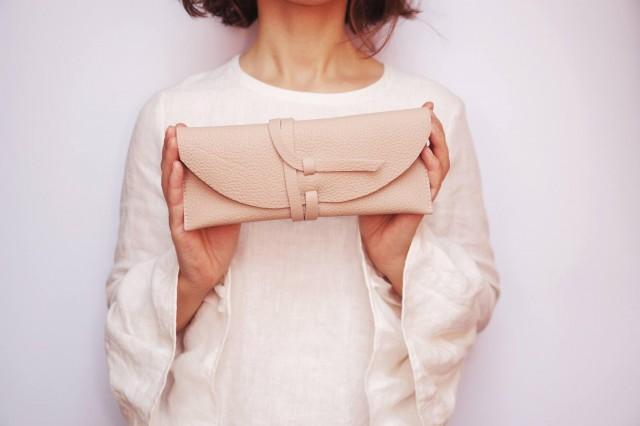 wedding photo - Leather wrap bag Size S leather handbag