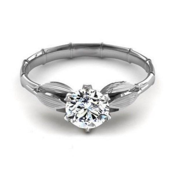 wedding photo - Buy 1 Ct Sterling Silver Moissanite Ring