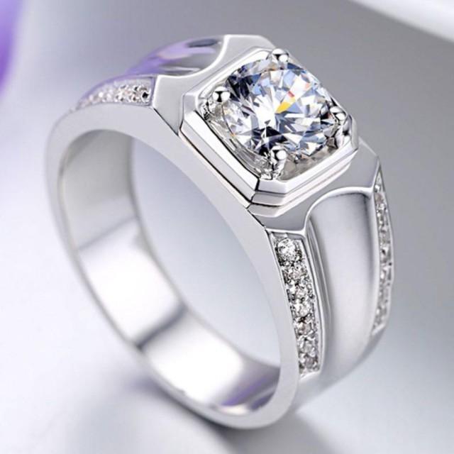 wedding photo - Buy - 1.5 Ct Men's Moissanite Ring