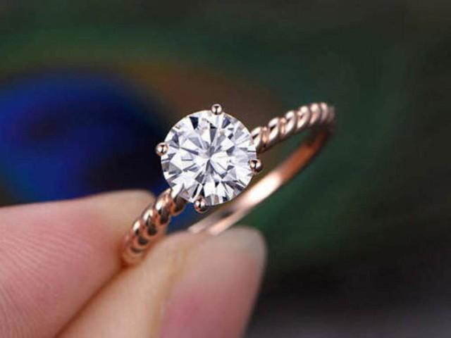 wedding photo - Buy 1.5ct Round Moissanite Ring