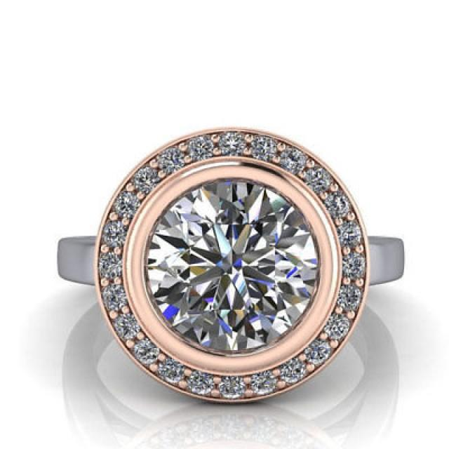 wedding photo - Affordable 1.5ct Rose Gold Moissanite Ring