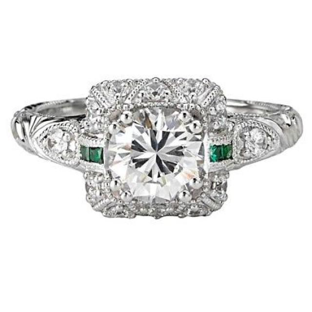wedding photo - 1.86 Ct Round White Moissanite Cocktail Wedding Anniversary Rings 925 Silver - Buy Best Quality Moissanite in India