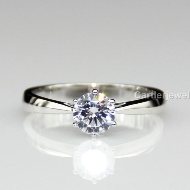 wedding photo - Best 1ct Tapered Sterling Silver Moissanite Wedding Ring
