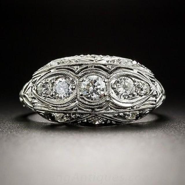 wedding photo - Buy Moissanite 3 stone wedding Ring