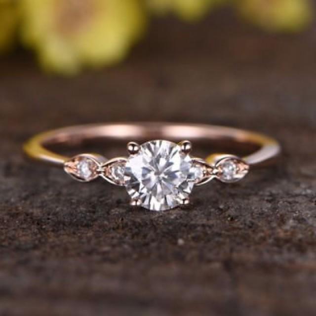 wedding photo - Buy 1.5 ct Rose Gold Moisanite Ring (Free Shipping)