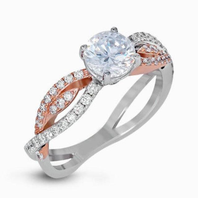 wedding photo - Best 2ct antique style Moissanite Ring [Criss-cross Ring]