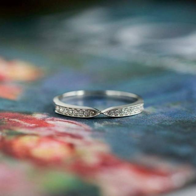 wedding photo - Buy Moissanite Eternity Wedding Band