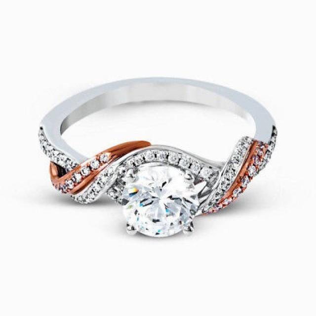 wedding photo - Buy 2 ct rose gold Moissanite Ring