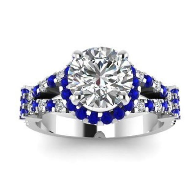 wedding photo - 1.5ct Moissanite Halo Ring Under $200