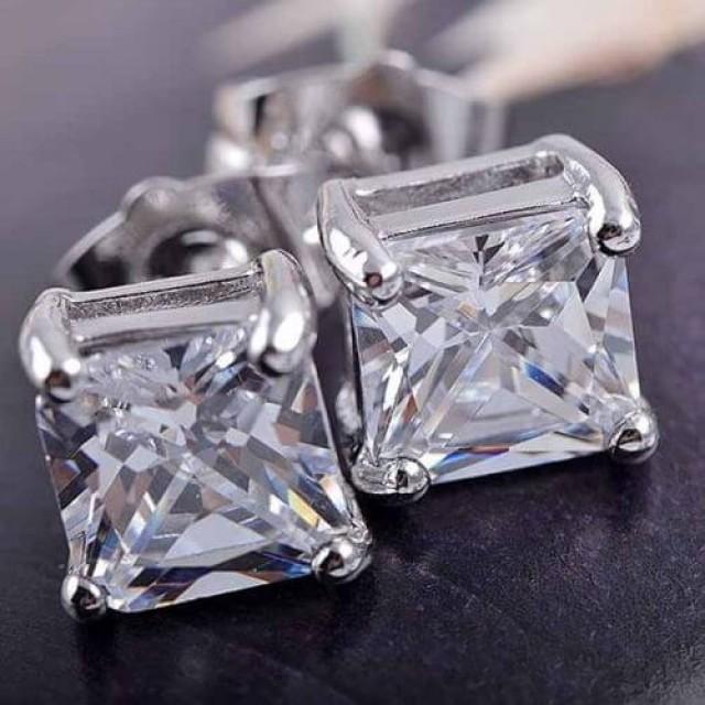 wedding photo - Buy Now 2 Ct Moissanite Halo Stud Earrings