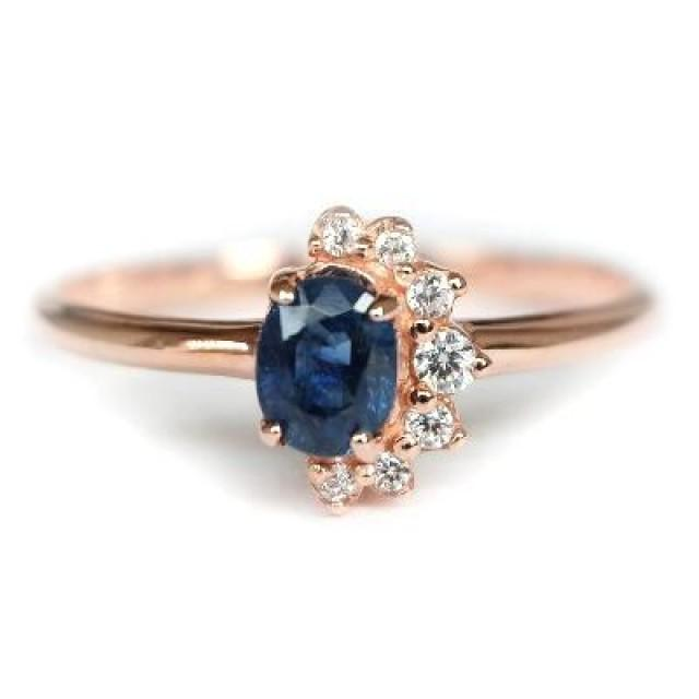 wedding photo - Shop Now Sapphire Ring Rose Gold Online : Gemone Diamond