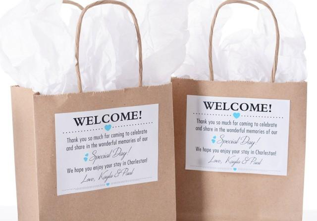 Custom Wedding Welcome Bags, Wedding Welcome Stickers, Thank You Bags, Hotel Welcome Bags, Out of Town Guest Bags, Wedding Favor Bags