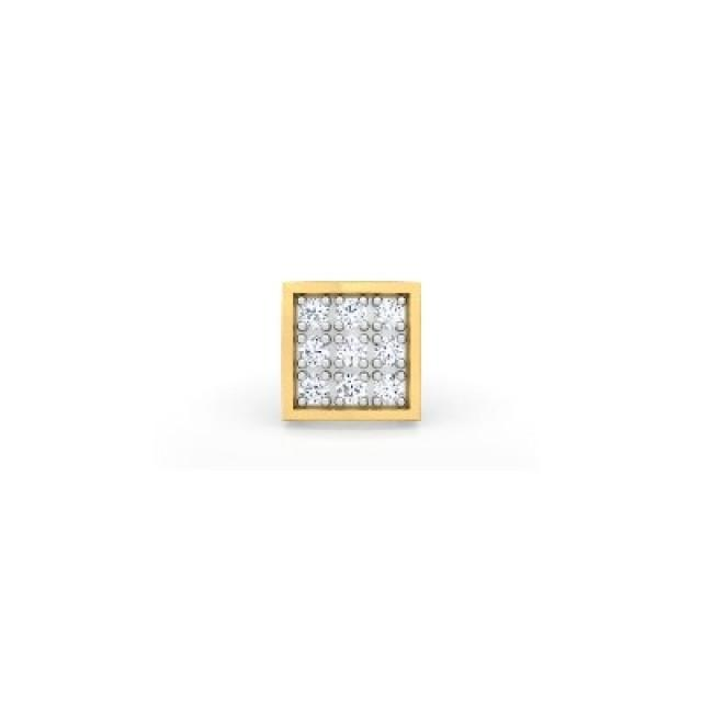 wedding photo - Men's Diamond Earring 0.09 Carat In 14k Yellow Gold Best Affordable Cost