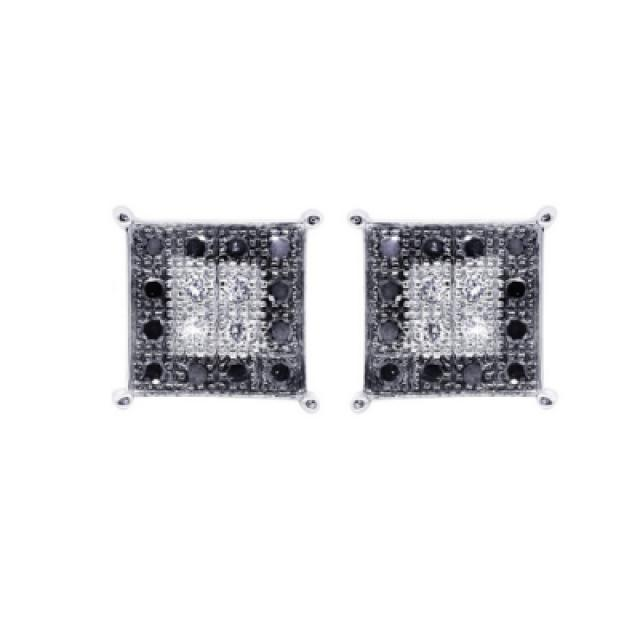 wedding photo - Diamond Earring For Men 0.32 Carat Made In 14k White Gold Best Price