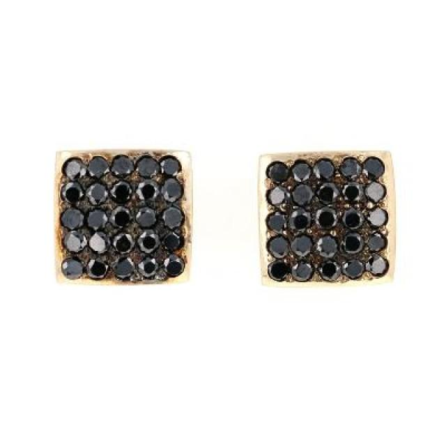 wedding photo - Unisex Stud Earrings In 14k Rose Gold Best Affordable Prices For You