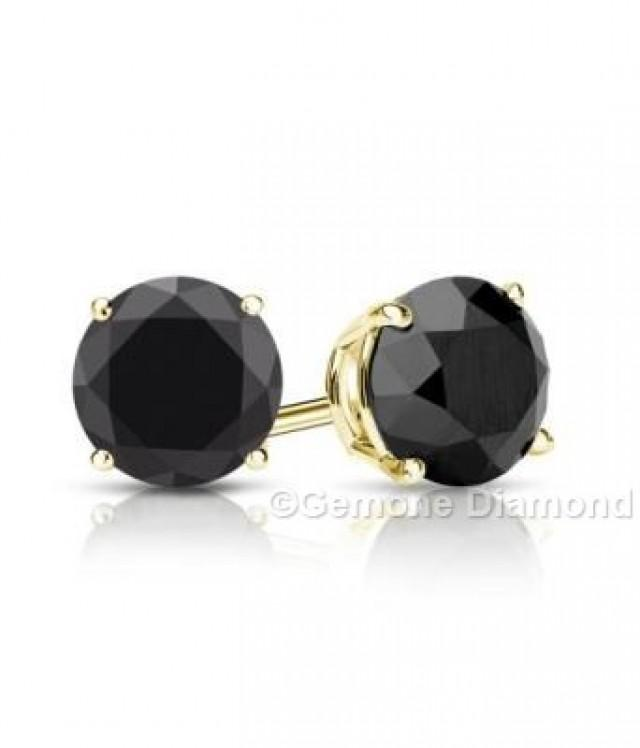 wedding photo - 2.50 Carat Diamonds Stud Earrings In 14k Yellow Gold For Sale Online