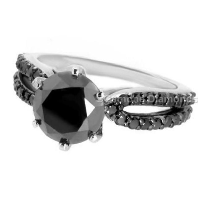 wedding photo - Buy 3.50 Carat Split Shank Diamond Engagement Ring