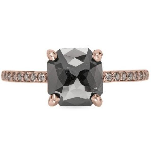 wedding photo - Shop Asscher Rose-cut Rustic Diamond Engagement Ring