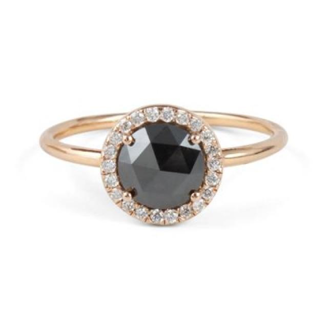 wedding photo - Buy 2.74ct Round-Brilliant Black Diamond Ring