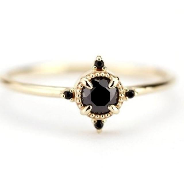 wedding photo - Buy 0.44Ct Delicate Engagement Ring In Yellow Gold