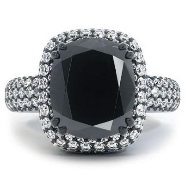 wedding photo - Best 5.88Ct Cushion Cut Vintage Engagement Ring