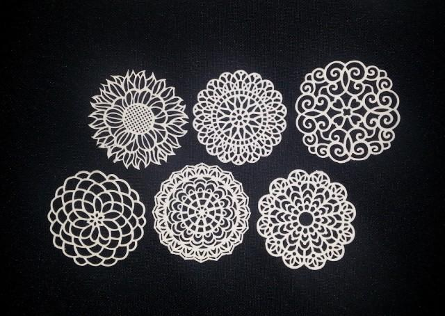 32 ASSORTED DOILIES - Ready To Use & Edible - Cakes, Cupcakes, Or Cookies